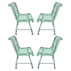 Set of Four French Arras Chairs