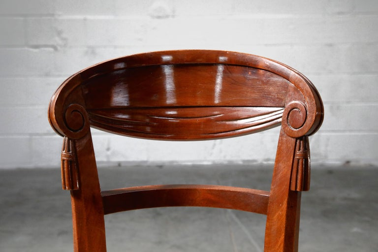 Set of Four French Art Deco Dining Chairs Attributed to Sue et Mare, circa 1920s For Sale 5