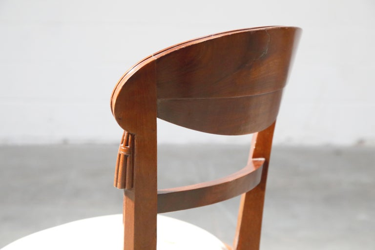 Set of Four French Art Deco Dining Chairs Attributed to Sue et Mare, circa 1920s For Sale 8