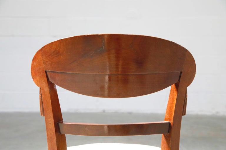 Set of Four French Art Deco Dining Chairs Attributed to Sue et Mare, circa 1920s For Sale 9