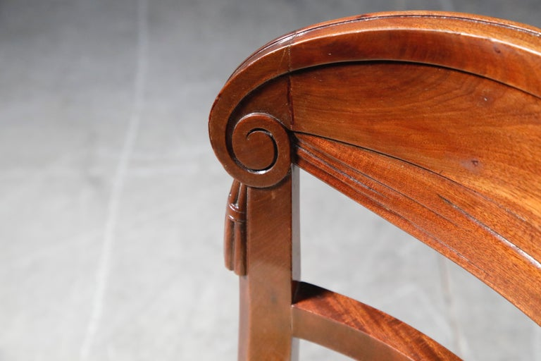 Set of Four French Art Deco Dining Chairs Attributed to Sue et Mare, circa 1920s For Sale 12