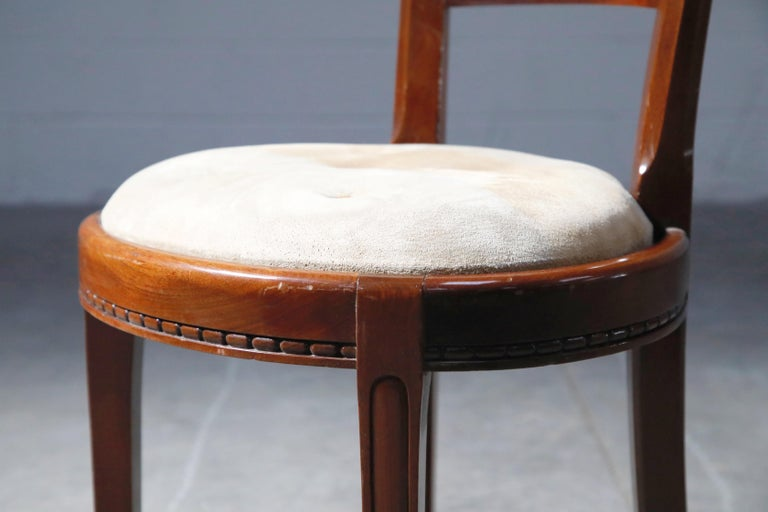 Set of Four French Art Deco Dining Chairs Attributed to Sue et Mare, circa 1920s For Sale 13
