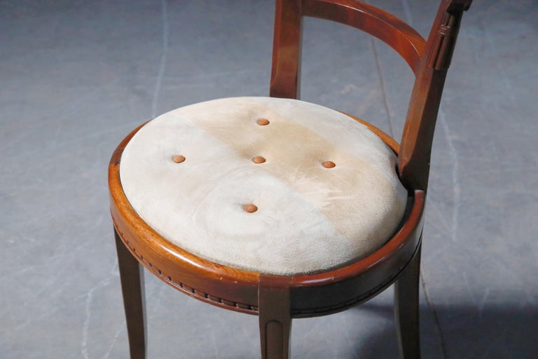 Set of Four French Art Deco Dining Chairs Attributed to Sue et Mare, circa 1920s For Sale 14