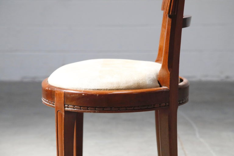 Set of Four French Art Deco Dining Chairs Attributed to Sue et Mare, circa 1920s For Sale 15
