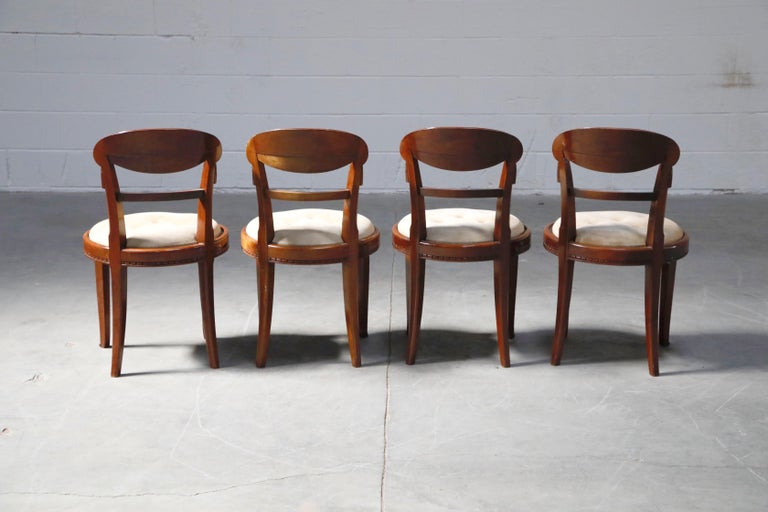 Set of Four French Art Deco Dining Chairs Attributed to Sue et Mare, circa 1920s For Sale 4