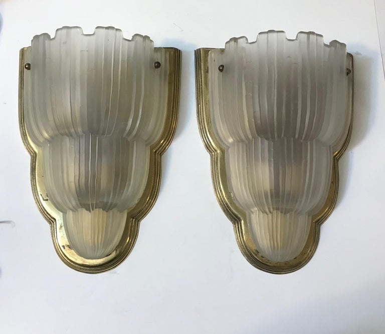A stunning set of four French Art Deco