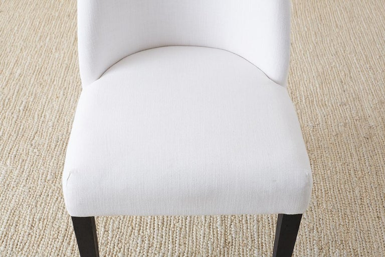 Set of Four French Barrel Back Style Dining Chairs For Sale 10