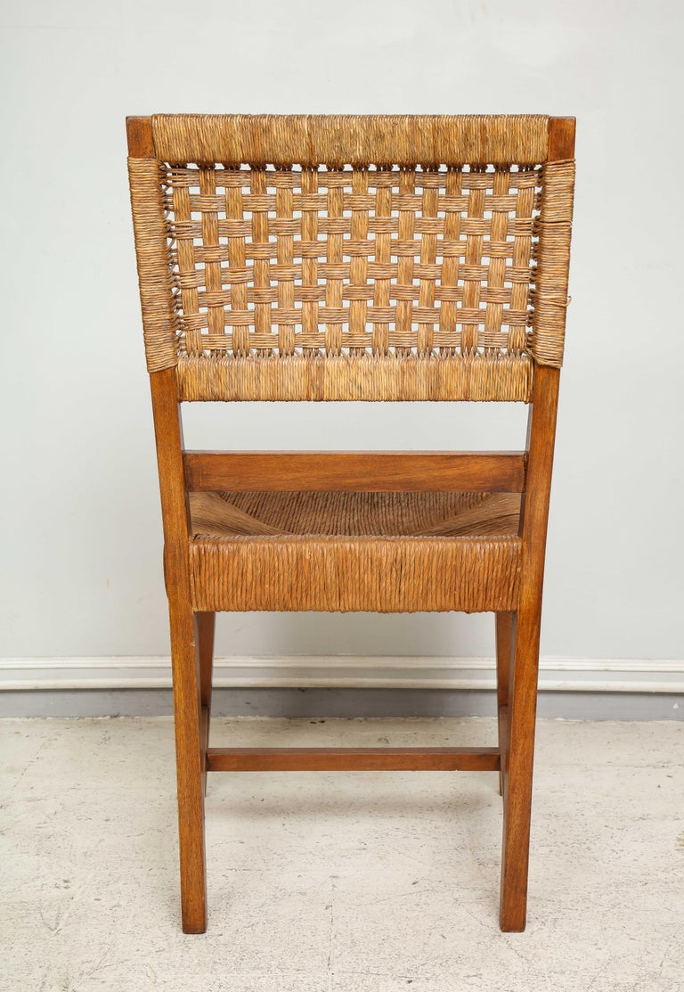 Set of Four French Caned Chairs from 1940s-1950s For Sale 1
