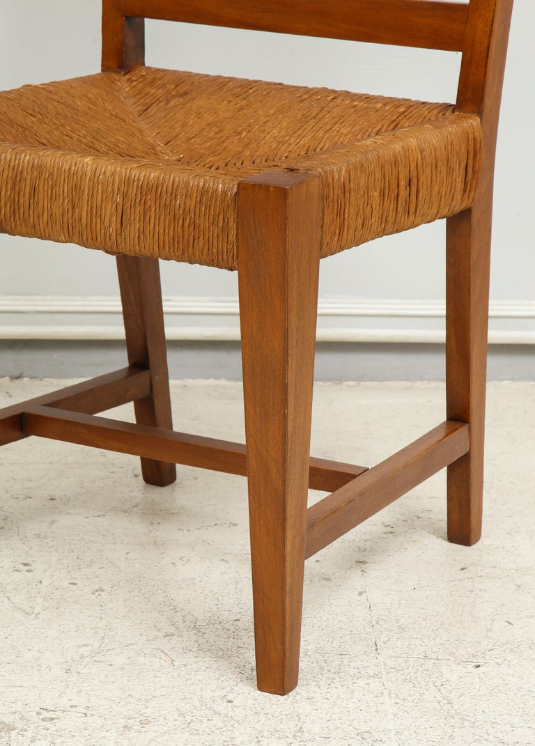 Set of Four French Caned Chairs from 1940s-1950s For Sale 4