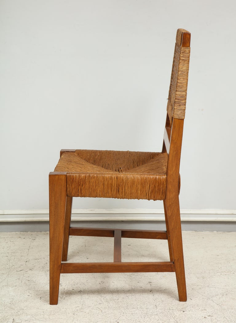 20th Century Set of Four French Caned Chairs from 1940s-1950s For Sale