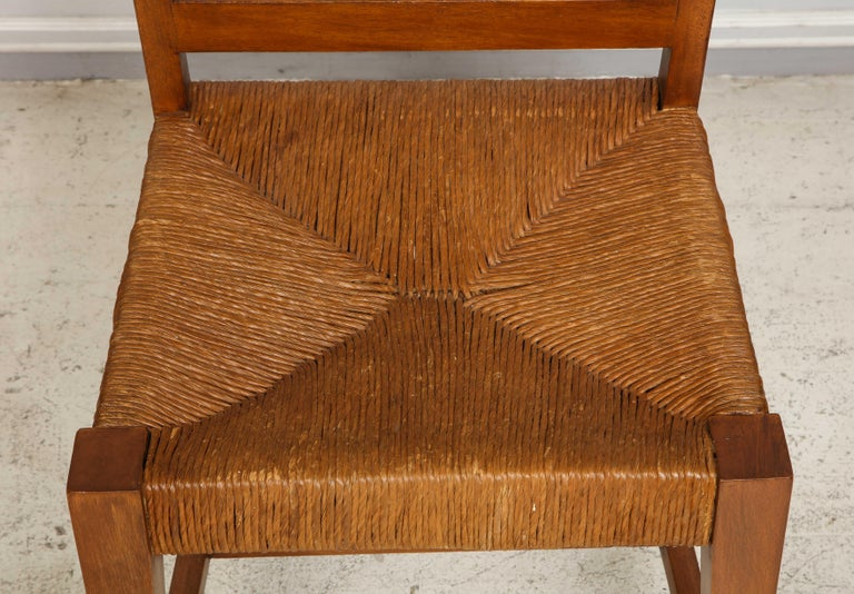 Set of Four French Caned Chairs from 1940s-1950s For Sale 6