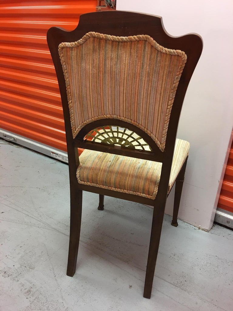 Set of Four French Game Chairs or Side Chairs, Late 19th Century For Sale 5