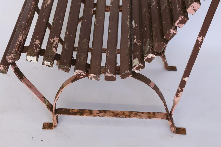 Set of Four French Garden Chairs, circa 1940 For Sale 6