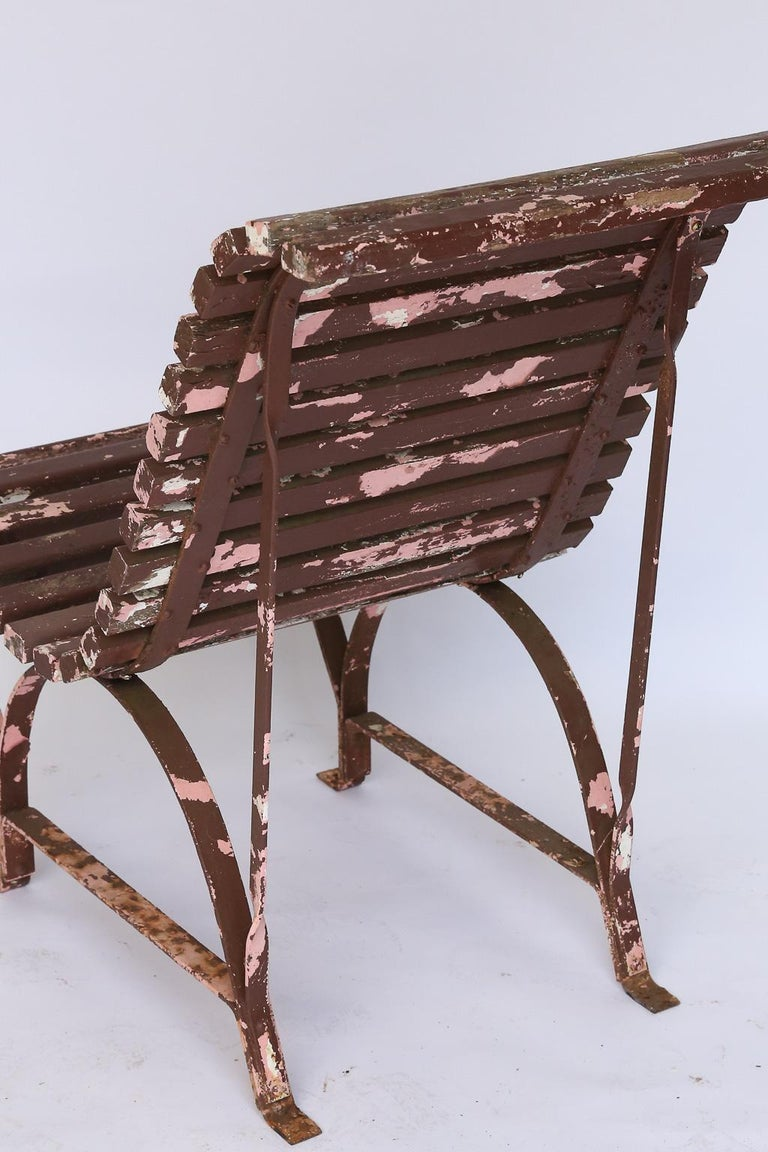 Set of Four French Garden Chairs, circa 1940 For Sale 7
