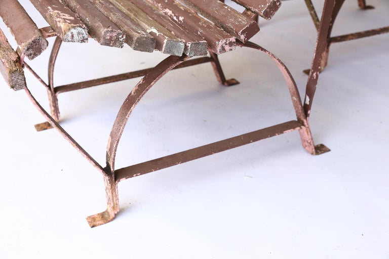 Set of Four French Garden Chairs, circa 1940 For Sale 2