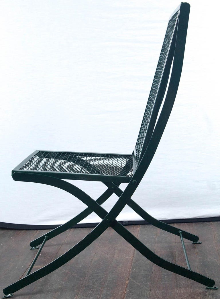 Set of Four French Iron Garden Chairs In Excellent Condition For Sale In Stamford, CT