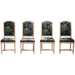 Set of Four French Louis XV Style Chairs, 1950s