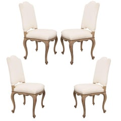 Set of Four French Louis XV-Style Reproduction Dining Side Chairs