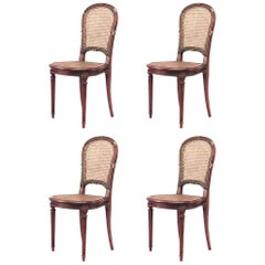 Set of Four French Louis XVI Style '19th Century' Mahogany Side Chairs