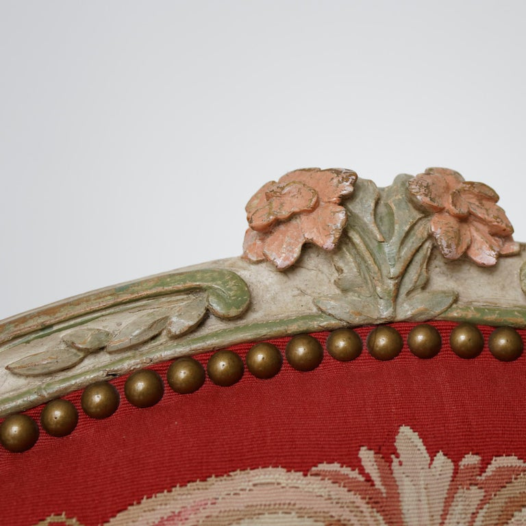 Set of Four French Mid-18th Century Rococo Louis XV Painted Fauteuils In Good Condition For Sale In Worpswede / Bremen, DE