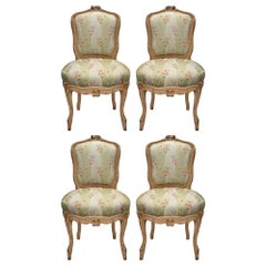 Set of Four French Mid 19th Century Louis XV St. Carved Chairs