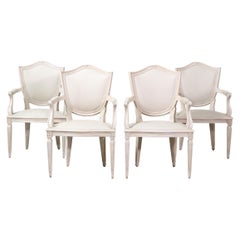 Set of Four French Neoclassical Armchairs