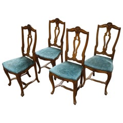 Set of Four French Side Chairs