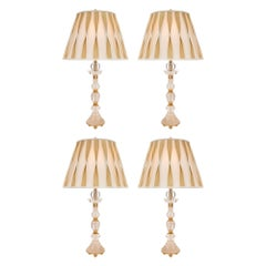 Set of Four French Turn of the Century Louis XVI St. Lamps