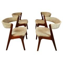 Set of Four Restored Kai Kristiansen Teak Dining Chairs - Custom Reupholstery