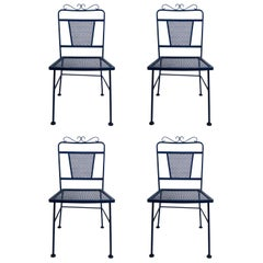 Set of Four Garden Patio Dining Chairs by Woodard