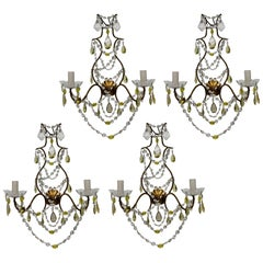 Set of Four Genoese Wall Lights