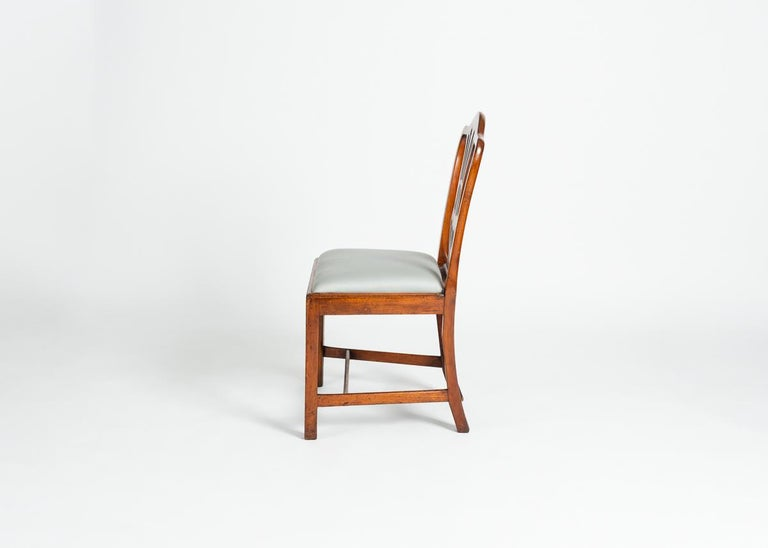 English Set of Four George III Dining Chairs, England, Circa 1765-1800 For Sale