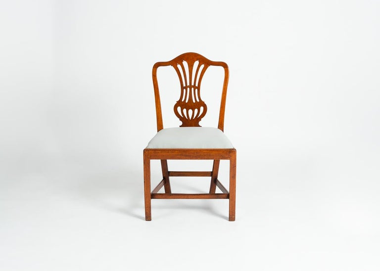 Carved Set of Four George III Dining Chairs, England, Circa 1765-1800 For Sale