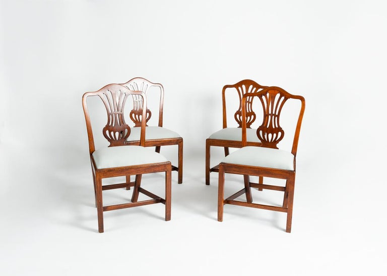 18th Century Set of Four George III Dining Chairs, England, Circa 1765-1800 For Sale