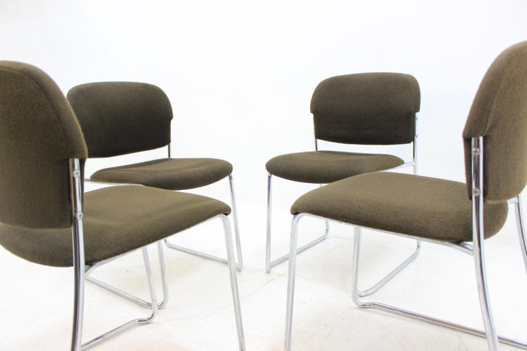 Mid-Century Modern Set of Four Gerd Lange Chairs by Drabert, 1980s For Sale