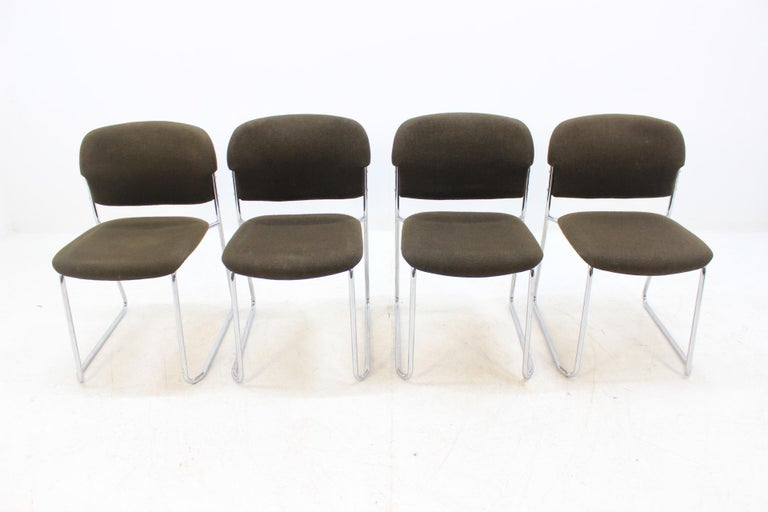 Set of Four Gerd Lange Chairs by Drabert, 1980s In Good Condition For Sale In Praha, CZ