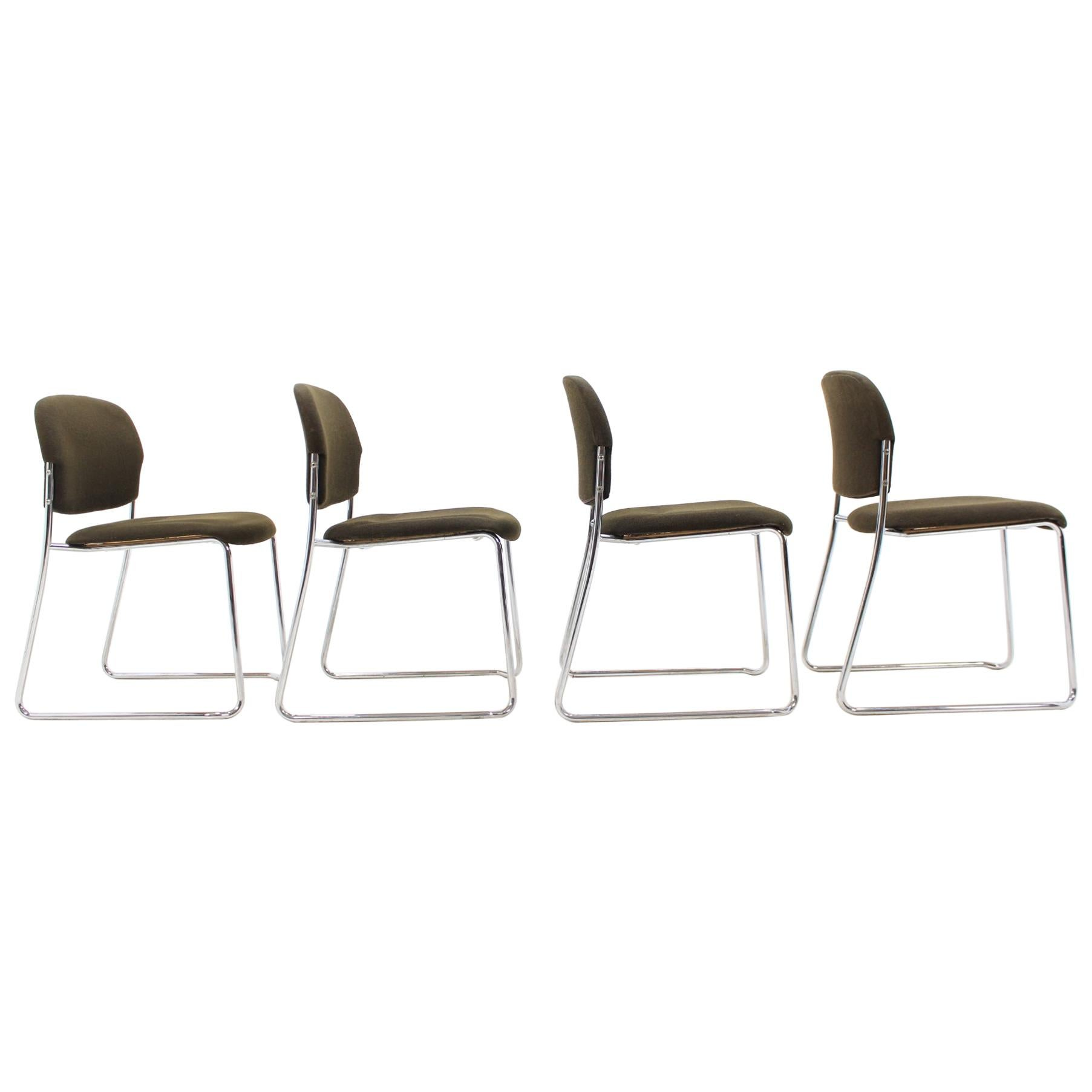 Set of Four Gerd Lange Chairs by Drabert, 1980s