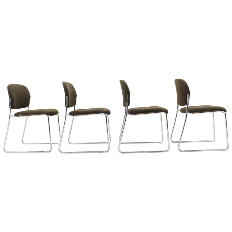 Set of Four Gerd Lange Chairs by Drabert, 1980s For Sale