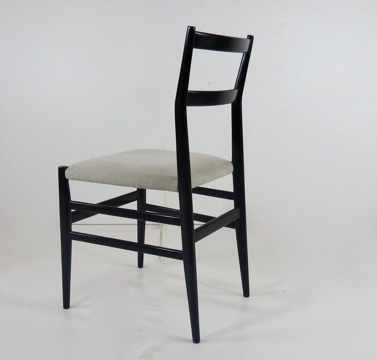 Mid-20th Century Set of Four Gio Ponti Black Laquered