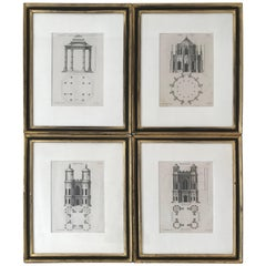 Set of Four Gothic Architecture Prints by Batty Langley