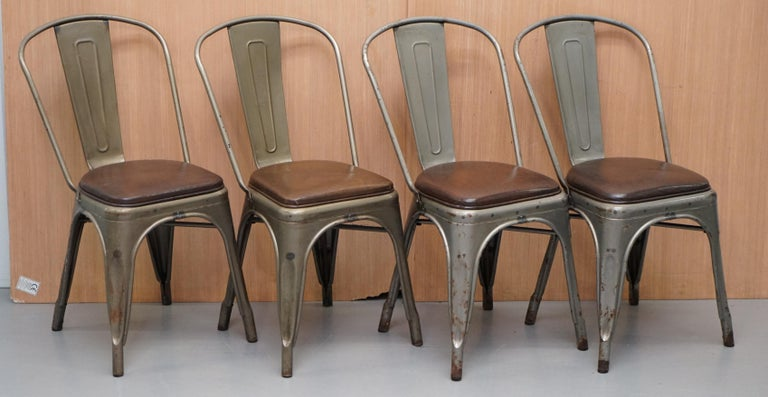 We are delighted to offer for sale this stunning set of vintage Tolix V2 stacking chairs in Gun metal grey