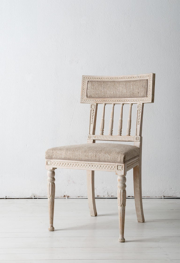 Set of Four Gustavian Dining Chairs For Sale 5