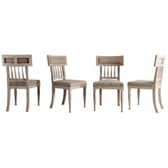 Set of Four Gustavian Dining Chairs