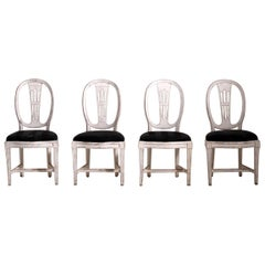 Set of Four Gustavian Side Chairs, circa 1790