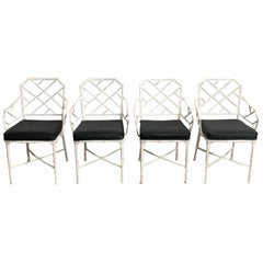 "Set of Four Hall Bradley ""Calcutta"" Dining Patio Armchairs for Brown Jordan 1967"