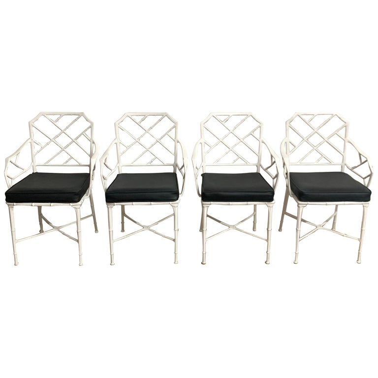 "Set of Four Hall Bradley ""Calcutta"" Dining Patio Armchairs for Brown Jordan 1967 For Sale"