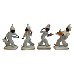 Set of Four Hand Painted Porcelain Rosenthal Figurines