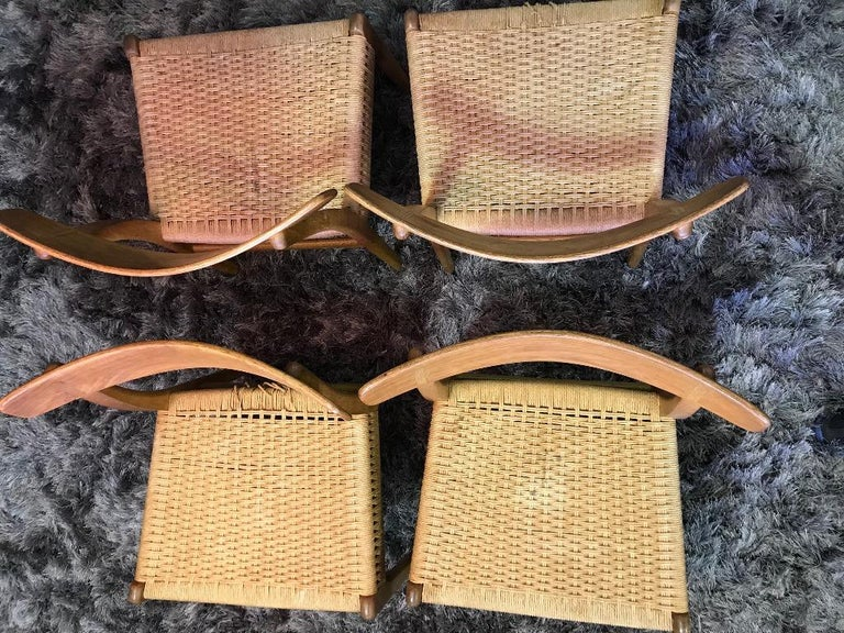 Hans Wegner Set of Four Mid-Century Modern Classic CH23 Dining Chairs For Sale 8