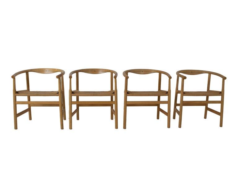 Scandinavian Modern Set of Four Hans Wegner PP203 Dining Chairs for PP Møbler, Denmark, 1970s For Sale