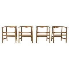 Set of Four Hans Wegner PP203 Dining Chairs for PP Møbler, Denmark, 1970s